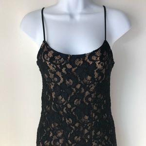 ALEXIA ADMOR. Black & Tan lace cocktail dress